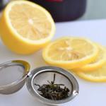 Cytryna i liście herbaty Gonseen